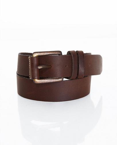 Large ceinture brune en cuir
